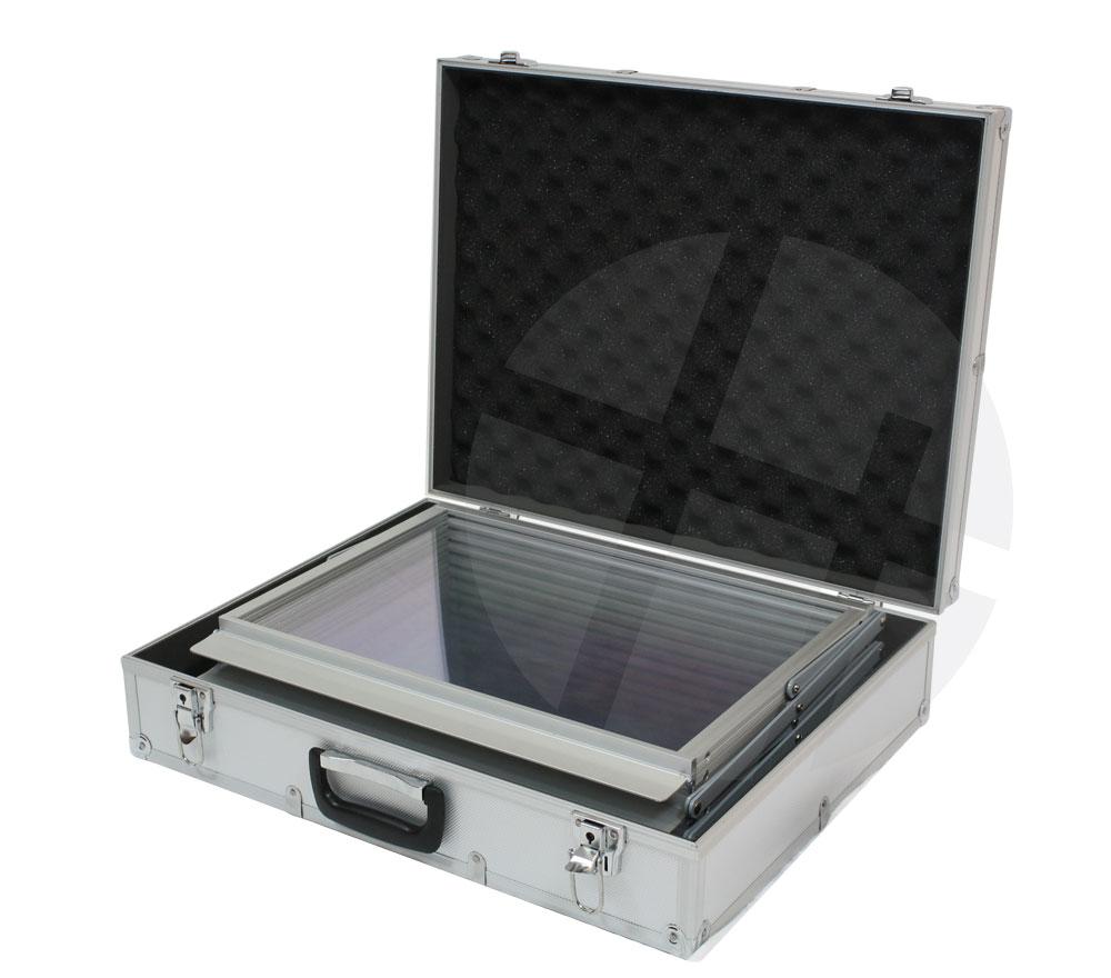 prospektst nder ms340 5xa3 acryl mit alu koffer. Black Bedroom Furniture Sets. Home Design Ideas